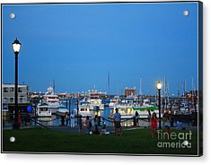 The Boston Wharf In The Early Evening Acrylic Print by Dora Sofia Caputo Photographic Art and Design