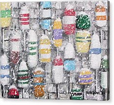 The Bouys Were Hung On The Shack With Care Acrylic Print by Jack Skinner