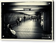 The Bowels Of The Subway New York City Acrylic Print by Sabine Jacobs