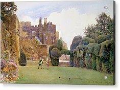 The Bowling Green, Berkeley Castle Acrylic Print by George Samuel Elgood