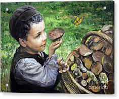 The Boy In The Woods Acrylic Print by Eugene Maksim