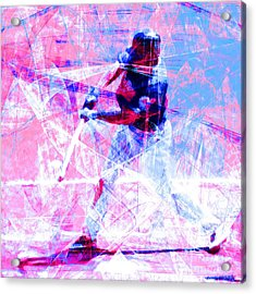 The Boys Of Summer 5d28228 The Batter Square Cool Lbb Acrylic Print by Wingsdomain Art and Photography