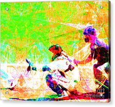 The Boys Of Summer 5d28228 The Catcher Acrylic Print by Wingsdomain Art and Photography