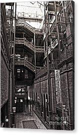 The Bradbury Building Acrylic Print by Gregory Dyer