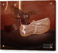 The Bridesmaid's Shoes Acrylic Print by Terri Waters