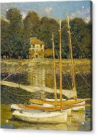 The Bridge At Argenteuil Acrylic Print by Claude Monet