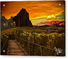 The Bridge Acrylic Print by Gerry Robins