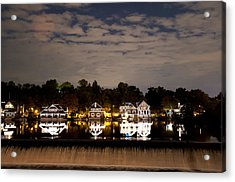 The Bright Lights Of Boathouse Row Acrylic Print by Bill Cannon