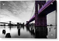 The Brooklyn Bridge Acrylic Print by Brian Reaves