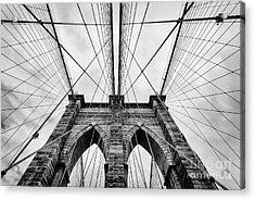 The Brooklyn Bridge Acrylic Print by John Farnan