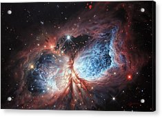 The Brush Strokes Of Star Birth Acrylic Print by Lucy West