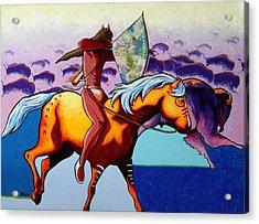 The Buffalo Hunter Acrylic Print by Joe  Triano