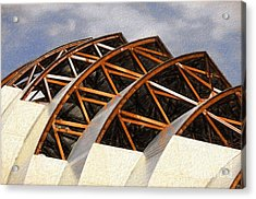 The Building Of Kauffman  Acrylic Print by Liane Wright