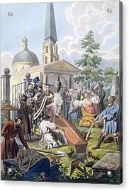 The Burial, 1812-13 Acrylic Print by E. Karnejeff