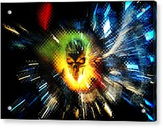 The Burning Acrylic Print by Frederico Borges