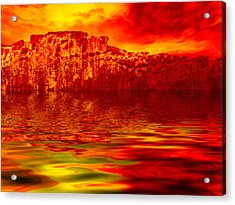 The Burning Zone Acrylic Print by Wendy J St Christopher