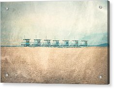 The Cabins Acrylic Print by Nastasia Cook