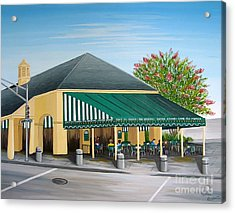 The Cafe Acrylic Print by Valerie Carpenter