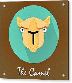 The Camel Cute Portrait Acrylic Print by Florian Rodarte