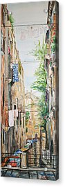 The Canal  Acrylic Print by Becky Kim