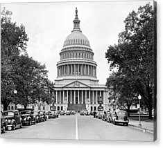 The Capitol Building Acrylic Print by Underwood Archives