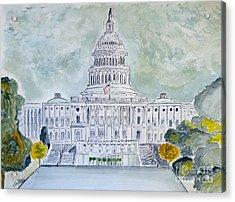 The Capitol Hill Acrylic Print by Eva Ason