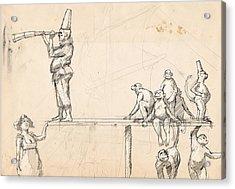 The Captain Acrylic Print by H James Hoff
