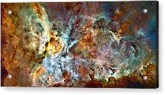 The Carina Nebula Acrylic Print by Ricky Barnard