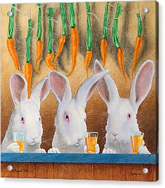 The Carrot Club... Acrylic Print by Will Bullas
