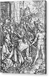 The Carrying Of The Cross Acrylic Print by Albrecht Durer or Duerer