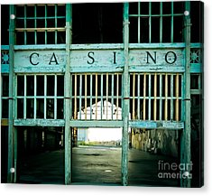 The Casino Acrylic Print by Colleen Kammerer