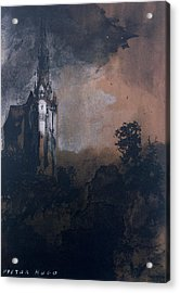 The Castle In The Moonlight  Acrylic Print by Victor Hugo