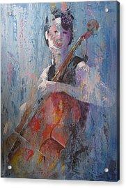 The Cello Acrylic Print by John Henne