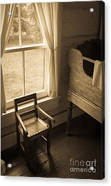 The Chair By The Window Acrylic Print by Edward Fielding