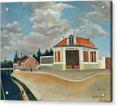 The Chair Factory At Alfortville Acrylic Print by Henri Rousseau
