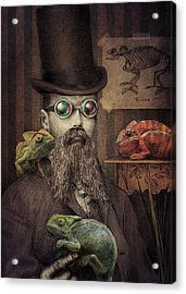 The Chameleon Collector Acrylic Print by Eric Fan