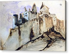 The Chateau Of Vianden Acrylic Print by Victor Hugo