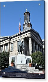 The Chester County Courthouse In West Chester Pa Acrylic Print by Bill Cannon