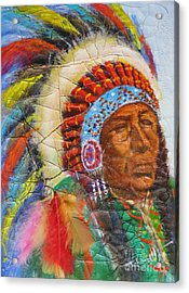 The Chief Acrylic Print by Mohamed Hirji