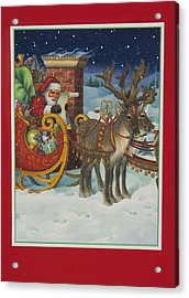 The Christmas List Acrylic Print by Lynn Bywaters