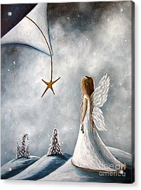 The Christmas Star Original Artwork Acrylic Print by Shawna Erback