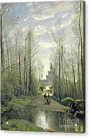 The Church At Marissel Acrylic Print by Jean Baptiste Camille Corot