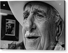 The Cigar Maker Acrylic Print by Rene Triay Photography
