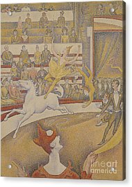 The Circus Acrylic Print by Georges Pierre Seurat