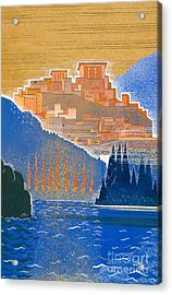 The City Of Troy From The Sea Acrylic Print by Francois-Louis Schmied