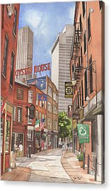 The City On A Hill Acrylic Print by Josh Marks