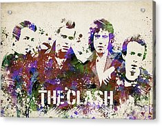 The Clash Portrait Acrylic Print by Aged Pixel