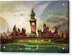 The Clock Tower Acrylic Print by Kristina Vardazaryan