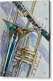 The Color Of Music Acrylic Print by Jenny Armitage