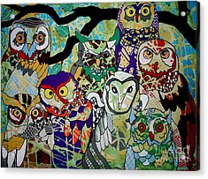 The Color Of Owls Acrylic Print by Amy Sorrell